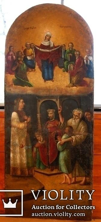 Старовинна ікона Покрови Пр. Богородиці, фото №5