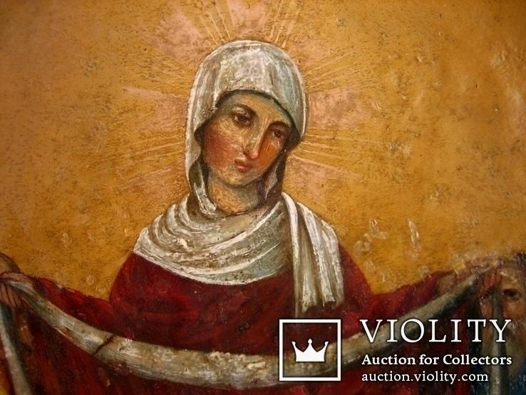 Старовинна ікона Покрови Пр. Богородиці, фото №8