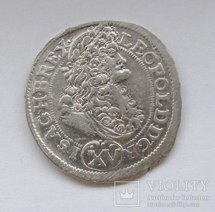 15 крейцеров 1691г. Леопольд I Габсбург, Венгрия