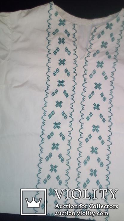 Блузка, вышитая крестиком. Ручная работа, фото №2