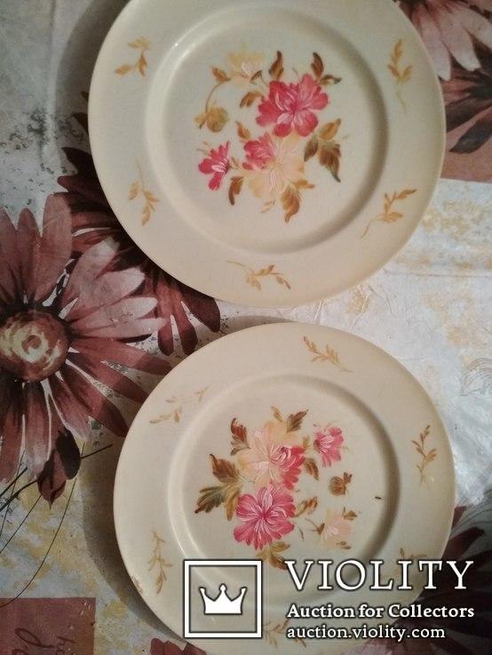 Декоративные тарелки ( 2 шт . )  колкий пластик, фото №2