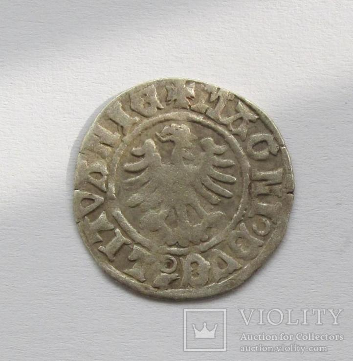 Полугрош 1501-1506гг Александр Ягелончик , Литва, Вильно (А5), фото №3