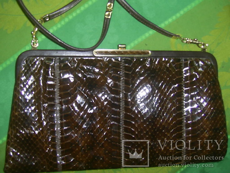 Сумочка-клатч из кожи змеи брендовая Jane Shilton Англия, фото №2