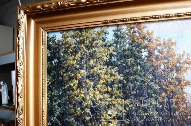 Старая большая картина в раме., фото №6