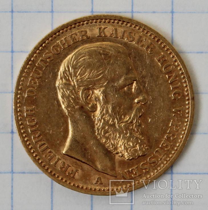20 марок 1888 года,Фридрих,Пруссия(2)