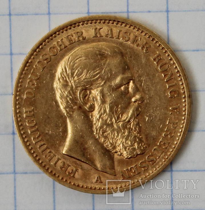 20 марок 1888 года,Фридрих,Пруссия(2), фото №3