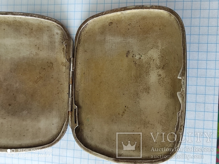 Портсигар серебро 800пр. 77грам., фото №2