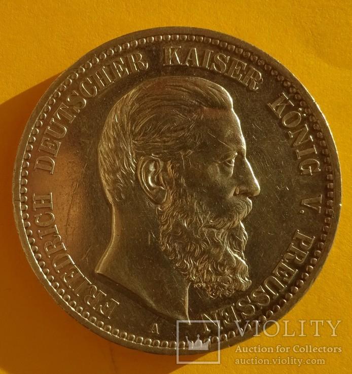5 марок, 1888 год, Пруссия,, фото №4