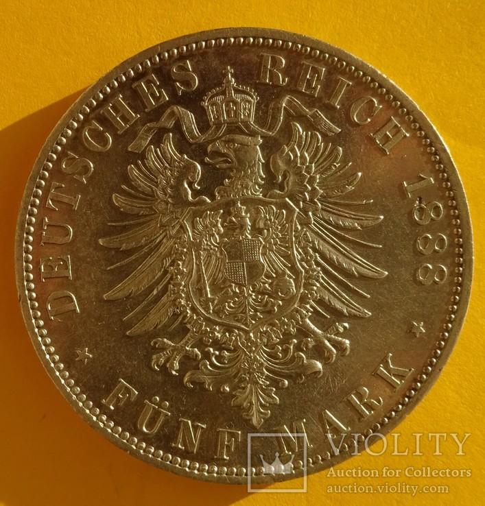 5 марок, 1888 год, Пруссия,, фото №5