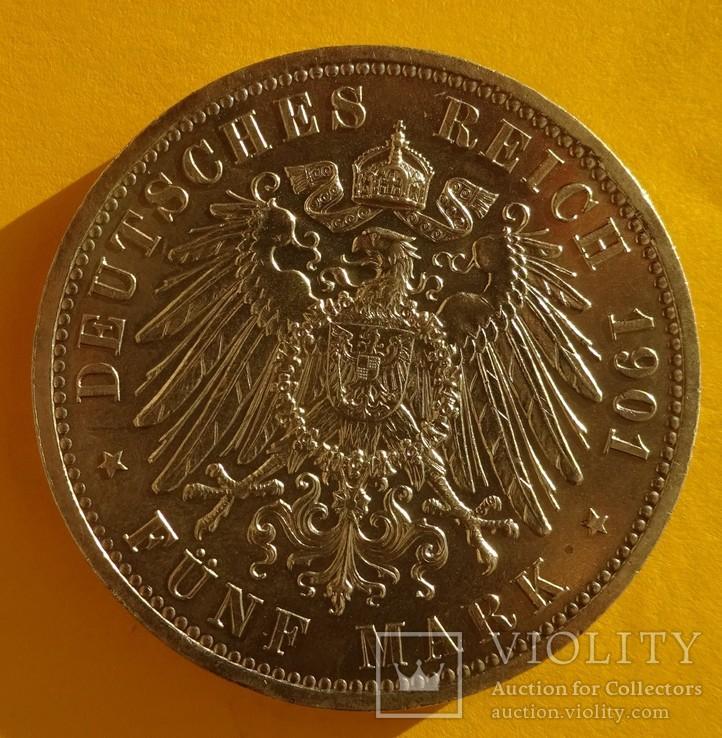 5 марок, Пруссия, 1901 год,, фото №5