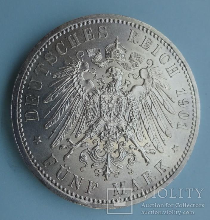 5 марок, Пруссия, 1901 год,, фото №6