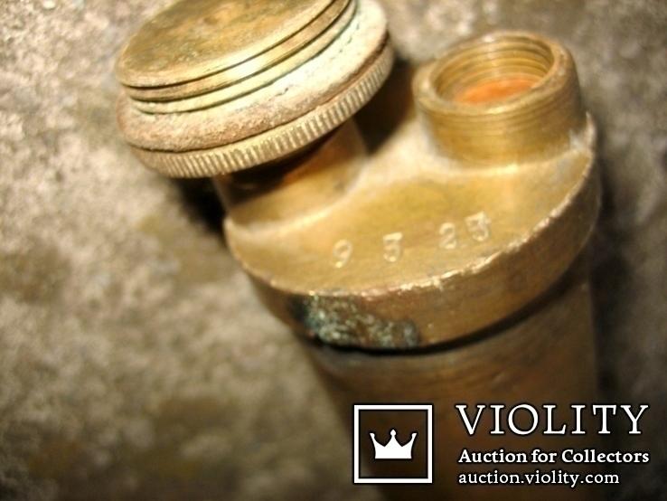 Старовинний бронзовий насос-оббризкувач (номерний), фото №6