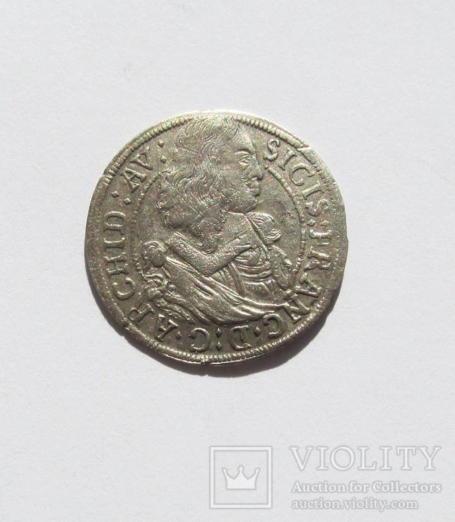 3 Крейцера 1663 г Сигизму́нд Фра́нц Австри́йский, Тироль