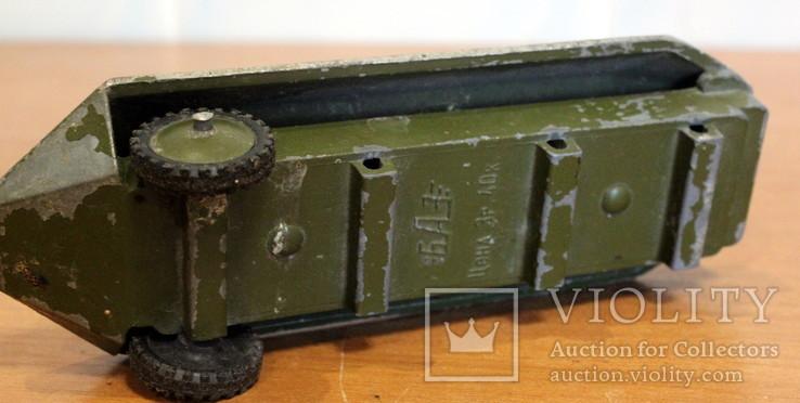 Лот детской военной техники из металла на реставрацию. есть пушка., фото №5