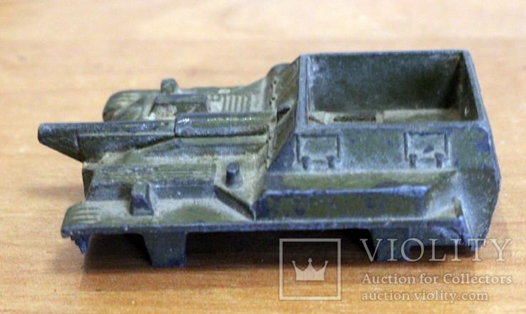 Лот детской военной техники из металла на реставрацию. есть пушка., фото №7