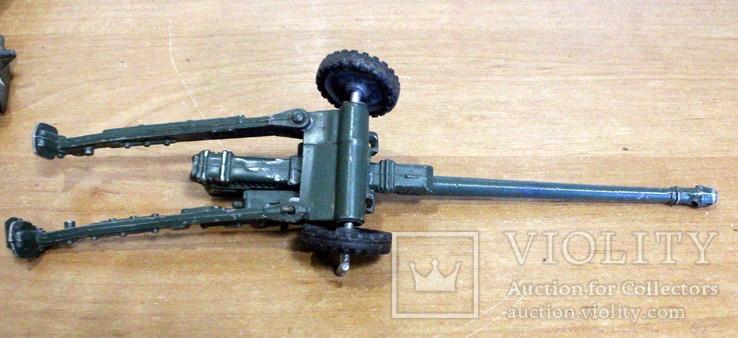 Лот детской военной техники из металла на реставрацию. есть пушка., фото №13