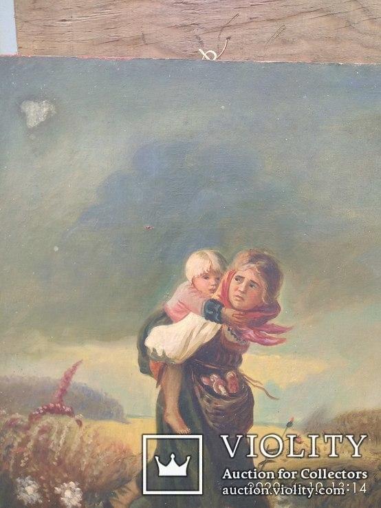 Картина''Дети бегущие от грозы''. Копия., фото №3