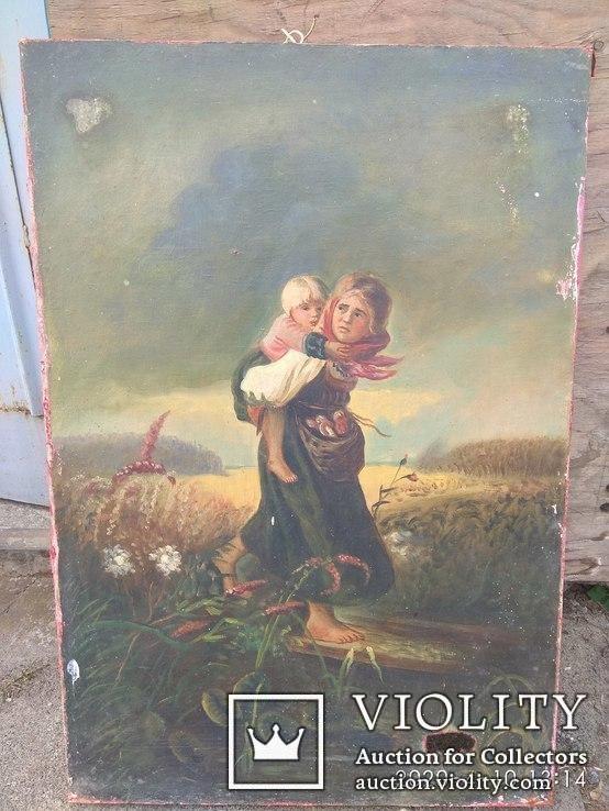 Картина''Дети бегущие от грозы''. Копия., фото №4