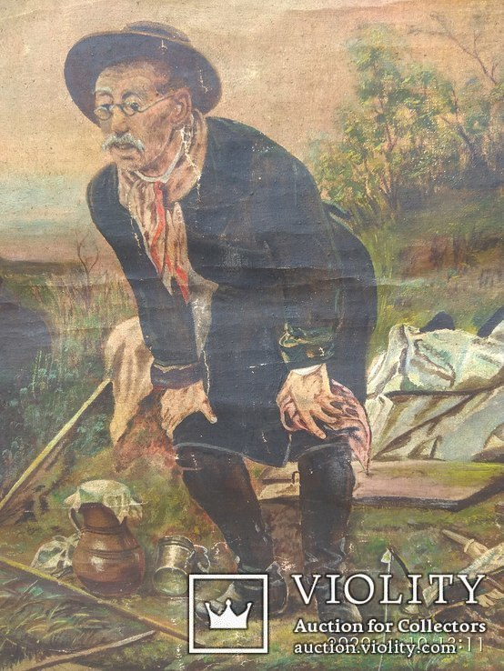 Картина Н.Нелин67г.''Рыбалка''. Копия., фото №2