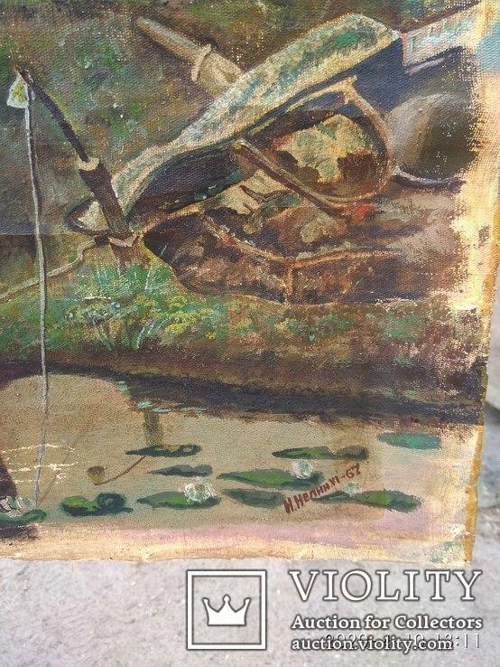 Картина Н.Нелин67г.''Рыбалка''. Копия., фото №3