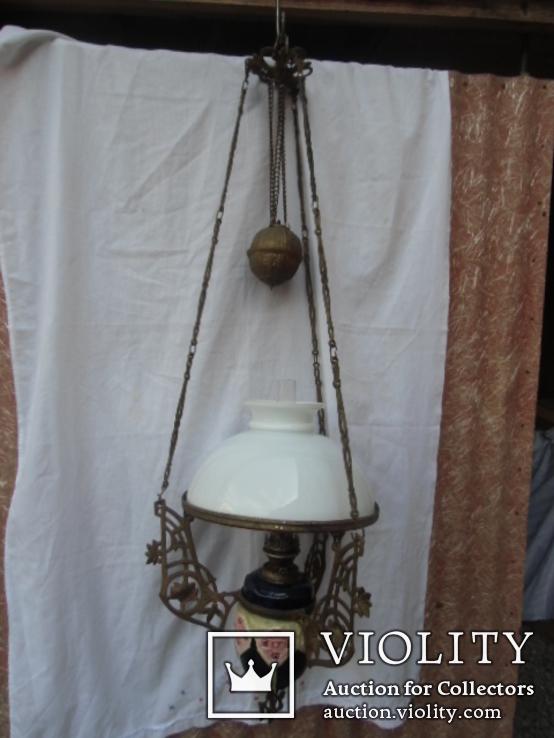 Керосиновая люстра Австро -Венгрия.  №2, фото №2