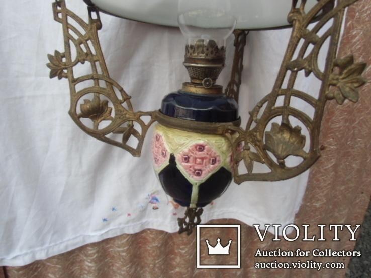 Керосиновая люстра Австро -Венгрия.  №2, фото №6