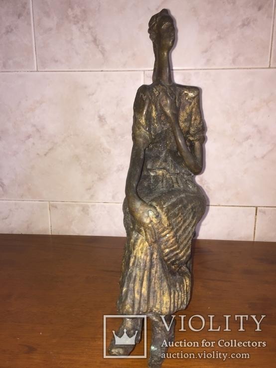 «Дама на стуле». Произведение скульптора Владимира Лемпорта, фото №4