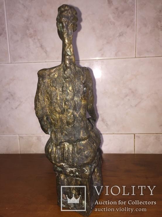 «Дама на стуле». Произведение скульптора Владимира Лемпорта, фото №6