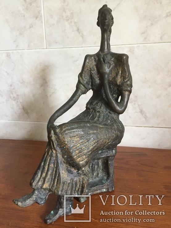 «Дама на стуле». Произведение скульптора Владимира Лемпорта, фото №9