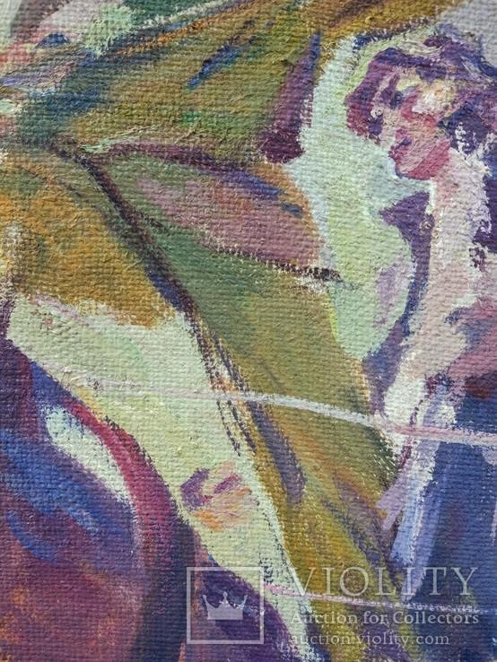"""В.Кнышевский""""На стройках Родины"""", х.м.69*59см, фото №8"""