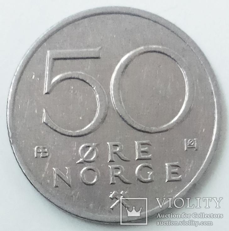 50 эре 1976 г. Норвегия, фото №3