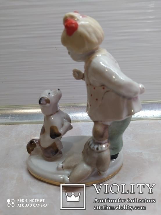 Статуэтка Девочка с собачкой, фото №2