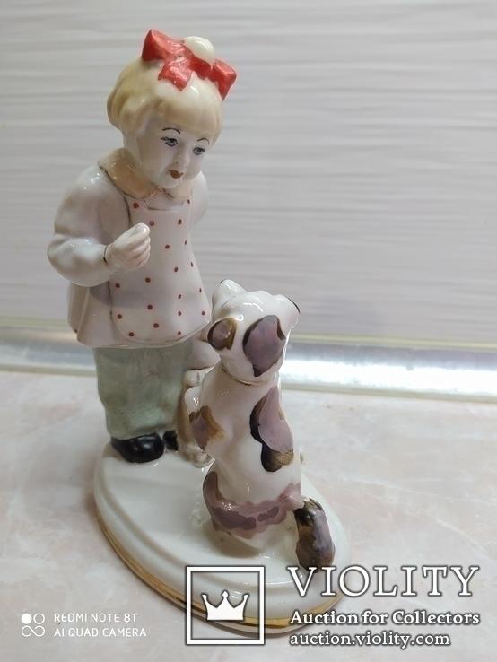Статуэтка Девочка с собачкой, фото №3