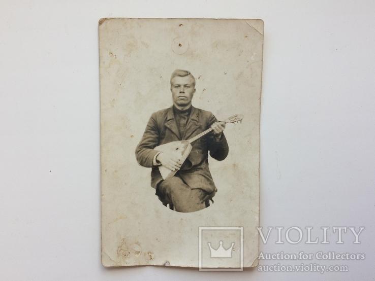 Серей Ильич Юрченко с балалайкой, фото №2