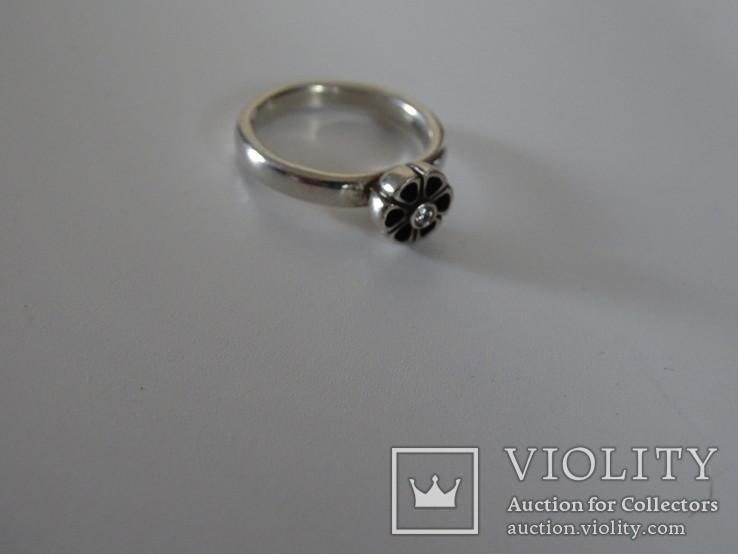 Кольцо Pandora ALE. Серебро, камень. Клейма., фото №4