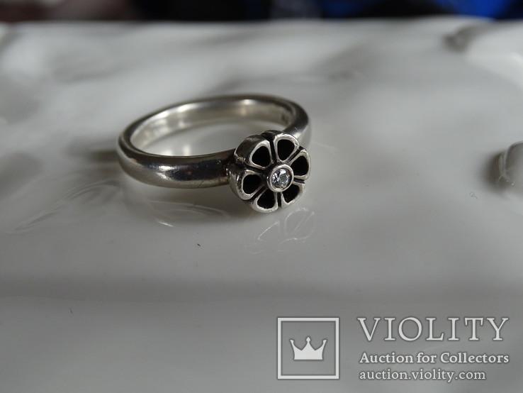 Кольцо Pandora ALE. Серебро, камень. Клейма., фото №5