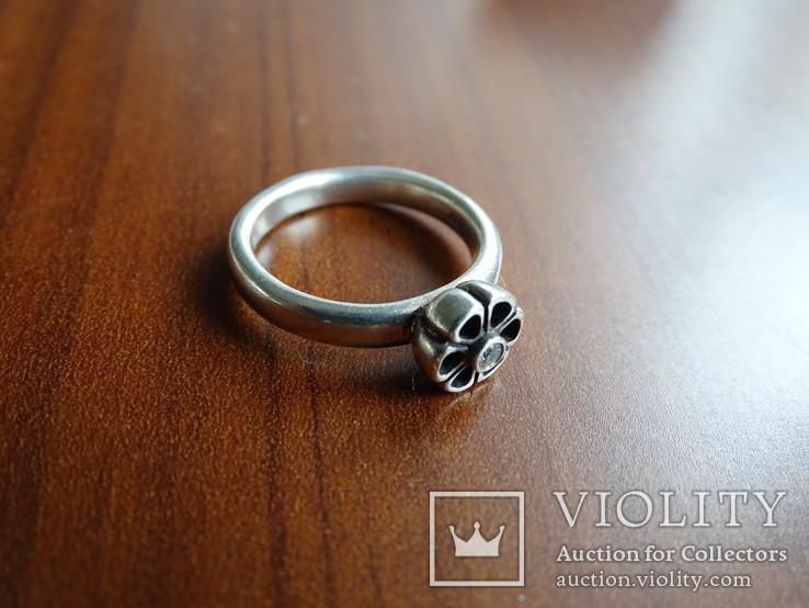 Кольцо Pandora ALE. Серебро, камень. Клейма., фото №6