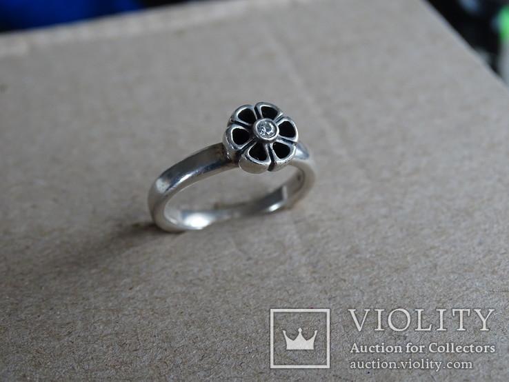 Кольцо Pandora ALE. Серебро, камень. Клейма., фото №2