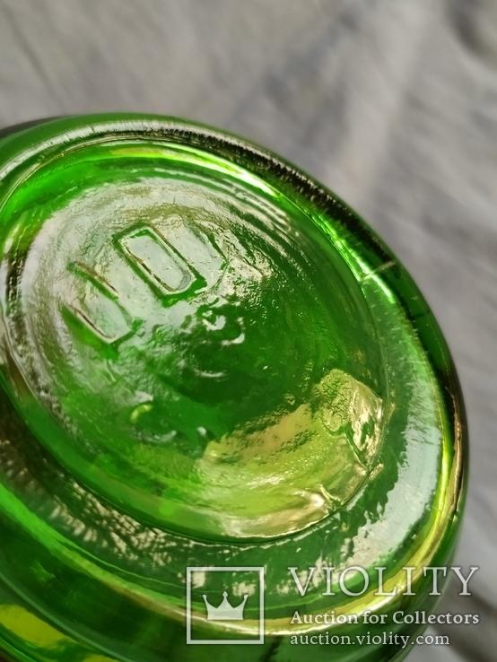 Керосиновая лампа зелёное стекло, фото №8