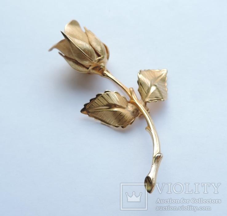 Брошь «Роза» от компании Longcraft линия  GIOVANNI . США. 60-е гг., фото №2