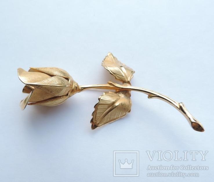 Брошь «Роза» от компании Longcraft линия  GIOVANNI . США. 60-е гг., фото №3