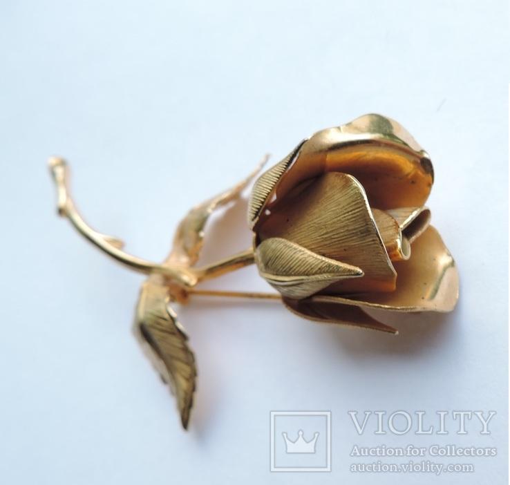 Брошь «Роза» от компании Longcraft линия  GIOVANNI . США. 60-е гг., фото №4