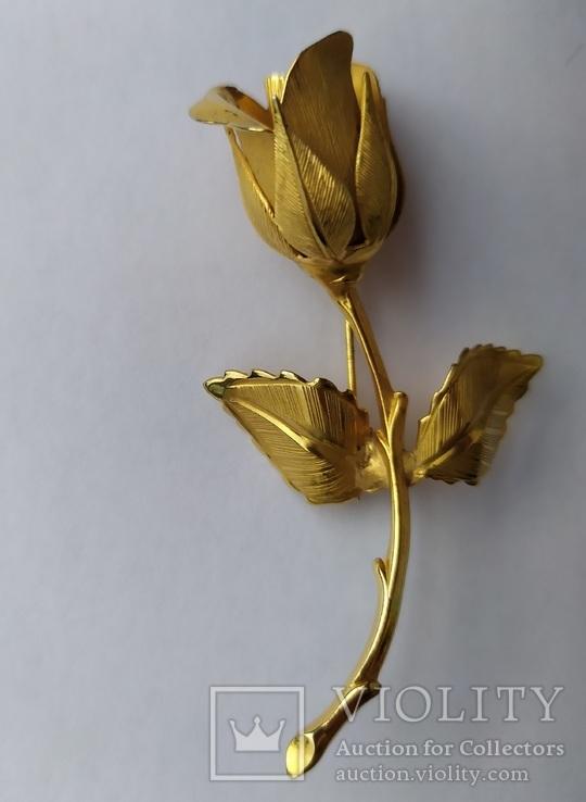 Брошь «Роза» от компании Longcraft линия  GIOVANNI . США. 60-е гг., фото №6