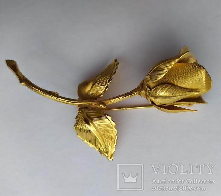Брошь «Роза» от компании Longcraft линия  GIOVANNI . США. 60-е гг., фото №8