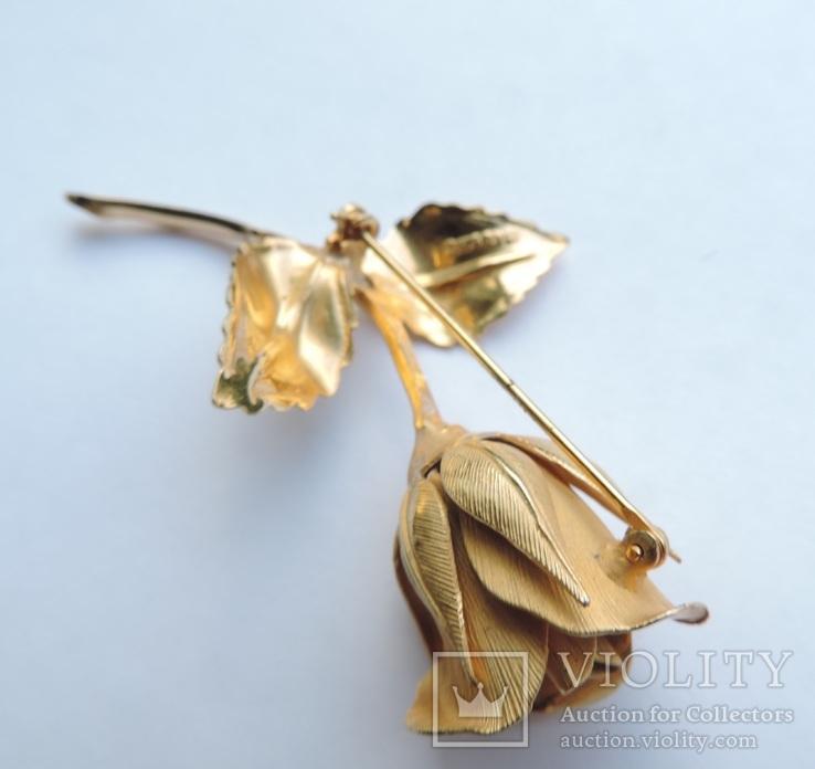 Брошь «Роза» от компании Longcraft линия  GIOVANNI . США. 60-е гг., фото №12
