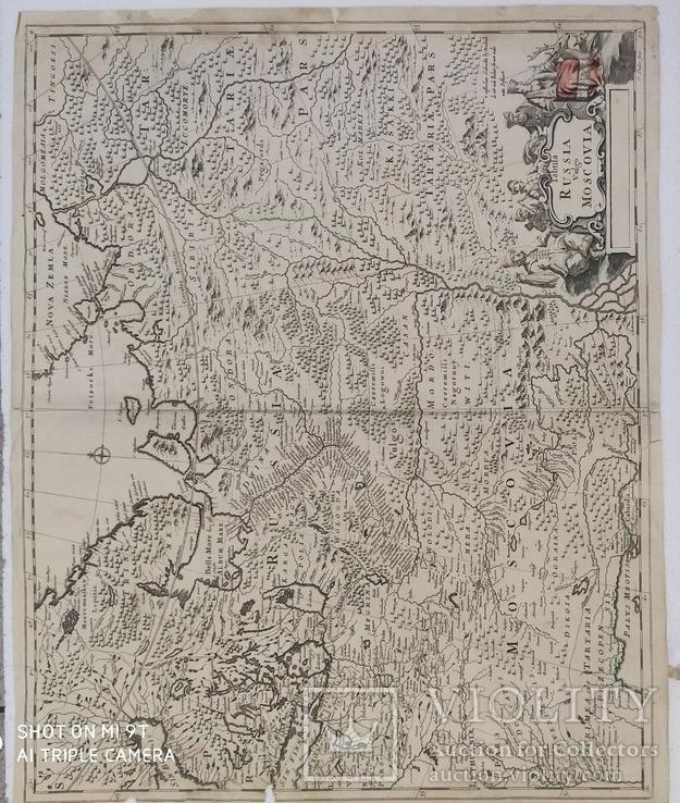 Карта 1690гг (Russia Moscovia)