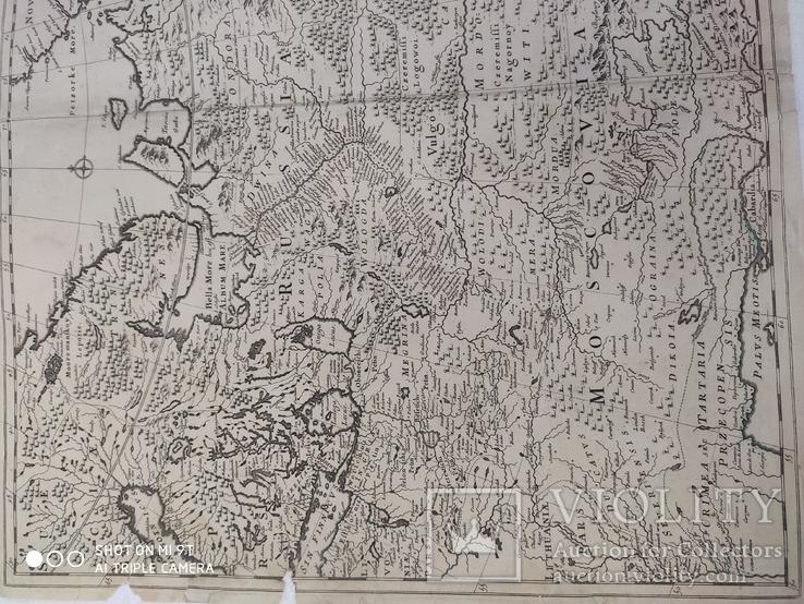 Карта 1690гг (Russia Moscovia), фото №3