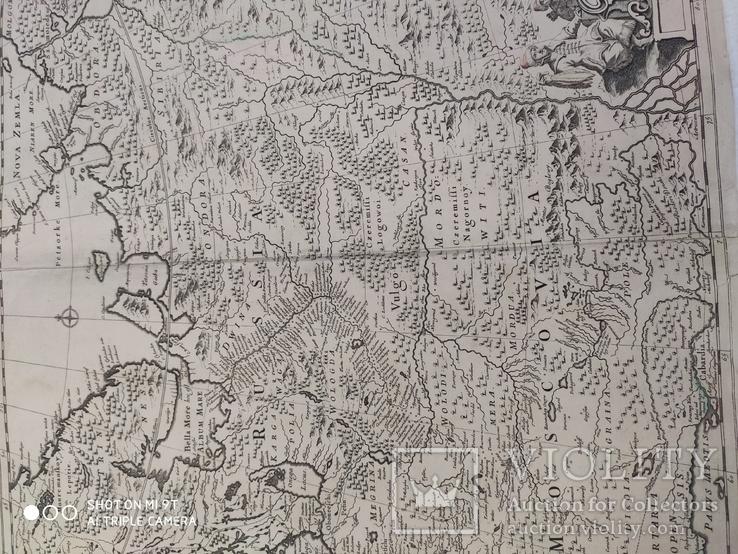 Карта 1690гг (Russia Moscovia), фото №4