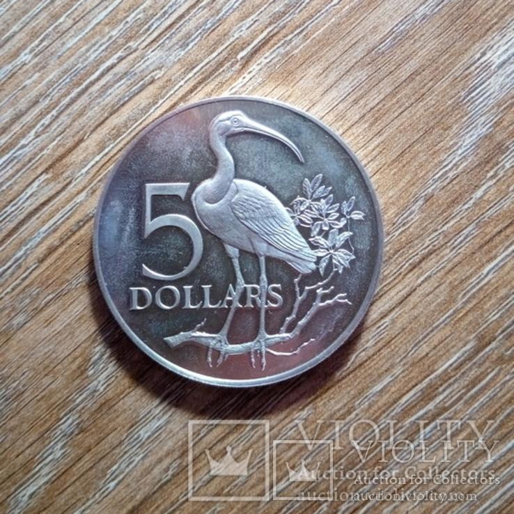 Тринидад и Тобаго 5 долларов 1975 г., фото №2