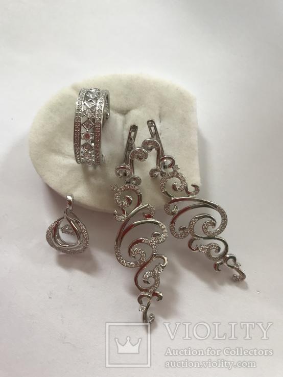 Набор серебряных украшений, фото №2